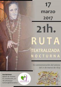 Ruta Teatralizada Nocturna 17 marzo 2017, a las 21h