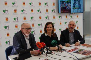 El Concejal de Turismo, la Concejal de Cultura y el Presidente de la Junta Mayor en rueda de prensa