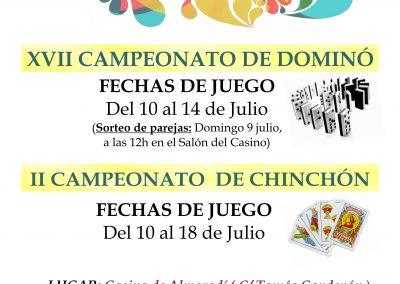 Campeonatos de Dominó y Chichón
