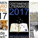 Premiados en los Certámenes Literarios y Fotográfico Villa de Almoradí 2017