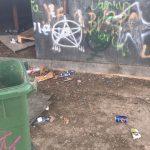 Actos de vandalismo en la Plaza Béjar