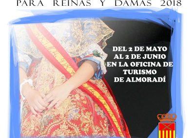 Abierto el Plazo de Inscripción para Reinas y Damas 2018
