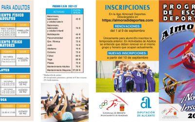 Escuelas Deportivas Municipales de Almoradí para el curso 2021/2022