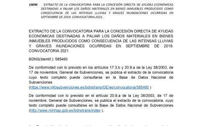 CONVOCATORIA PARA LA CONCESIÓN DIRECTA DE AYUDAS